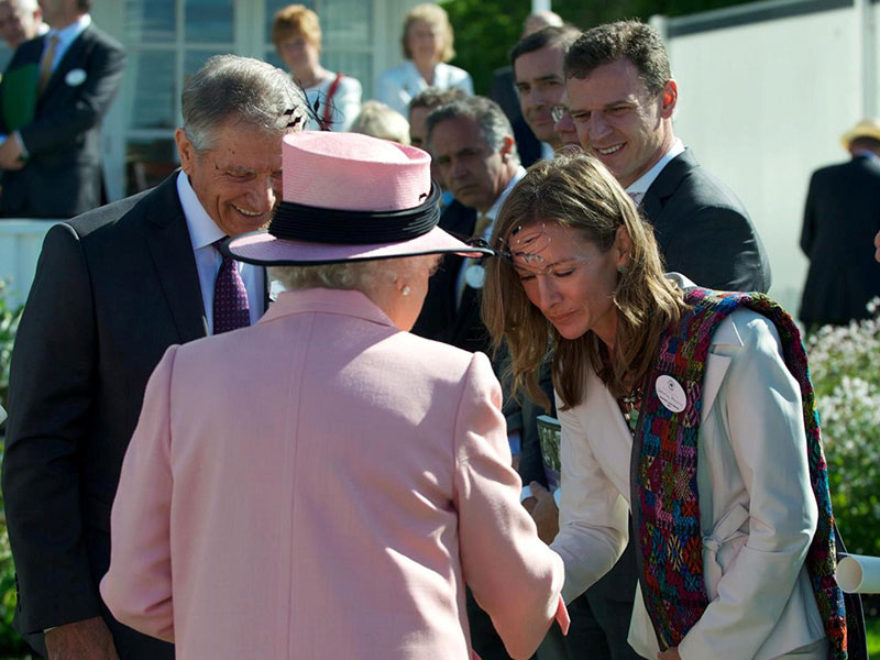 Lead-Up International founder Katie Cunningham receives award from Queen Elizabeth
