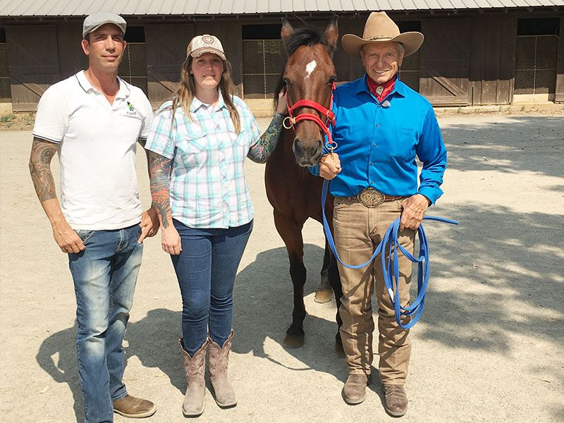 Simon Marrier d'Unienvile Monty Roberts Certified Instructor with Shy Boy and Monty Roberts